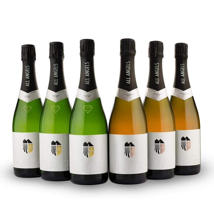 Six bottles<br>mixed